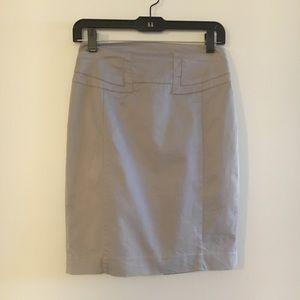 Express gray cotton pencil skirt
